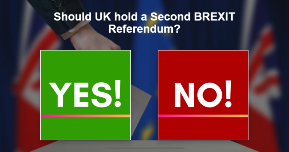 Symbol Image- Second Brexit Referendum Flash Poll Oct. 2019