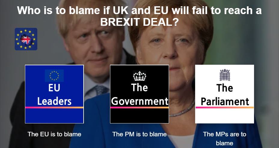 Who is to blame if UK and EU will fail to reach a Brexit deal