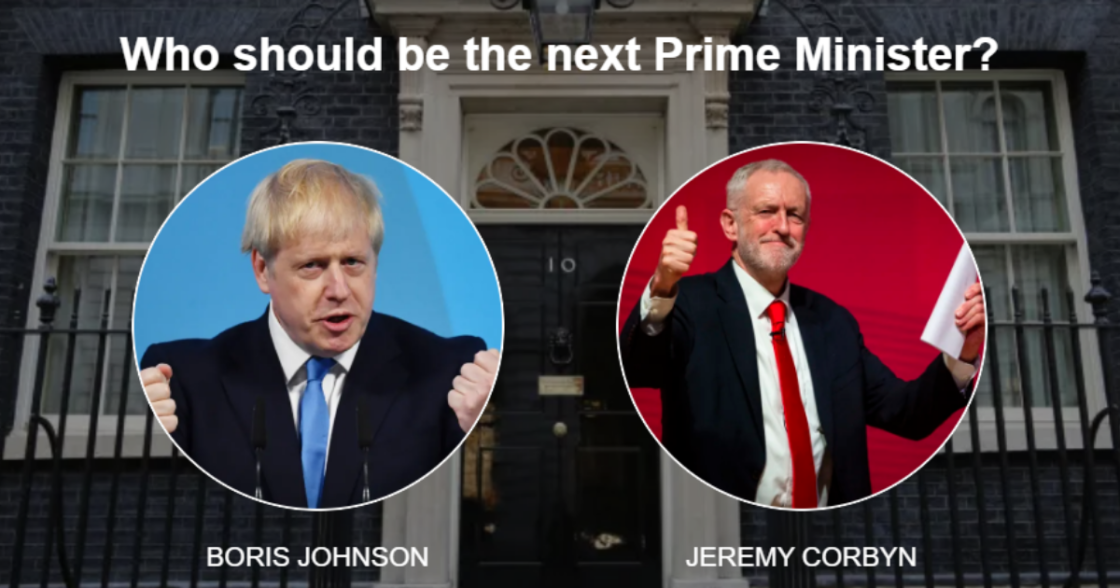 Boris Johnson versus Jeremy Corbyn